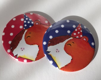Pucker Up Pocket Mirrors - Guinea Pig 2 Designs
