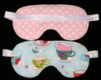 Tea Party Sleeping Eye mask Spa Eye Mask sleep over party pajama party favor