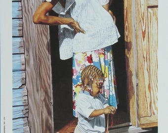 Young Mother - Bahamian art print of original oil painting by Nicole Minnis