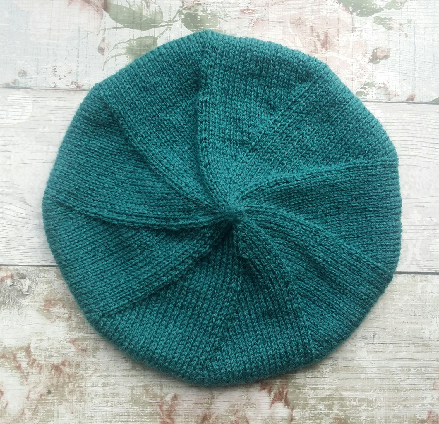Beret Knitting Pattern - Knitted Hat Pattern - Beret - Tam Pattern ...
