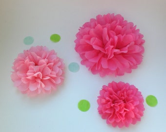 Centerpiece Kit ..20 Paper Flowers (Any Colors.)..   Birthday Party Decoration, Wedding Decor, Baby Shower Decor