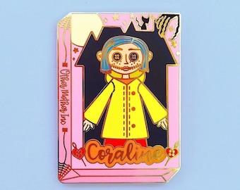 Coraline Doll Enamel Pin
