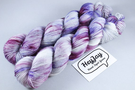 Hand Dyed Sock Yarn Superwash Merino/Nylon - Speck Up Your Life