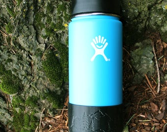 Custom Hydro Flask Boot- Mountains and Trees