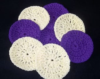Facial Scrubbies, cotton scrubbies, cotton rounds, bath and beauty, makeup remover