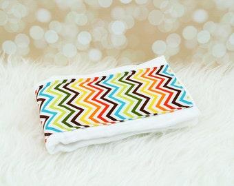Baby Burp Cloth (Tiny Bermuda Chevron Zigzag) ||| burp rag, baby burp cloths, burping rag, baby shower gift, baby gift, new baby gift
