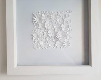 Framed Square 3D flowers