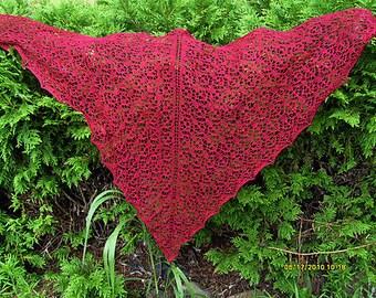 Knitting Pattern Firefly Beaded Shawl