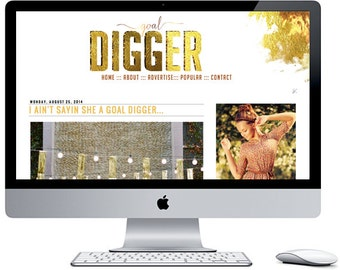 Goal Digger Blogger Blog Template ***Includes Installation***