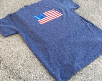 Adult American Flag T-Shirt/Iron-On Transfer