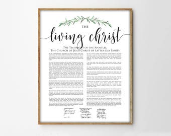 The Living Christ Print, Modern LDS Print, Living Christ Printable Art