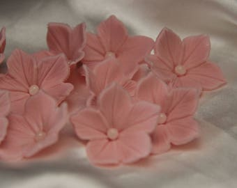 12, 25 , 50, 100 Handmade sugar flowers .Edible Wedding flowers. Cake decoration  rich and elegant cupcake toppers.... gumpaste and fondant.