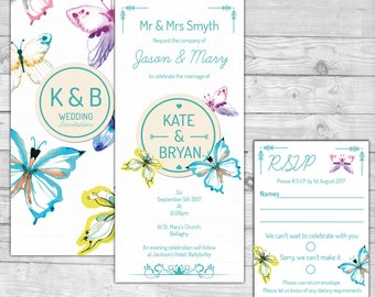 Butterfly Wedding Invite 1