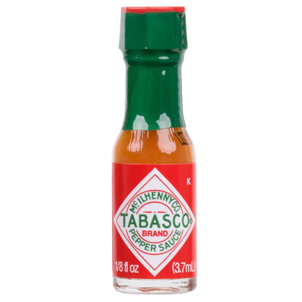 12Ct 0.125oz Mini Tabasco Sauce Bottles Party Wedding