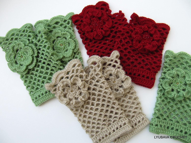 Crochet pattern fingerless gloves lace gloves with flower diy crochet pattern fingerless gloves lace gloves with flower diy gloves gift for women instant download pdf pattern 44 lyubava crochet from dt1010fo