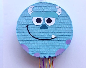 MONSTERS INC PIÑATA, Sully Monsters Inc Birthday Party, Sully pinata, favor, pull string pinata