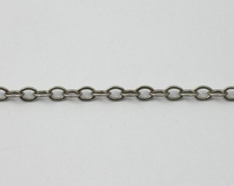 Antique Silver, 4mm x 3mm Classic Cable Chain CC173