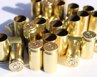 Once Fired Brass 40 caliber - Bullet Brass Casings - 100x for Jewlery making and Reloading