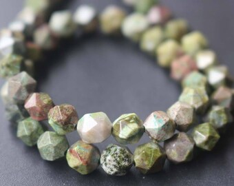 Natural Faceted Birdseye Rhyolite Star Cut Nugget Beads,Faceted Beads Bulk Supply,15 inches one starand