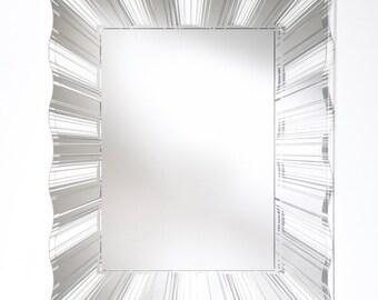 Miroir Contemporain SWELL Modern Rectangulaire Naturel 90x112 cm