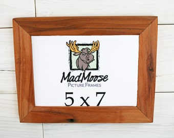 """5x7 Reclaimed Redwood [Thin x 1.25""""] Picture Frame"""