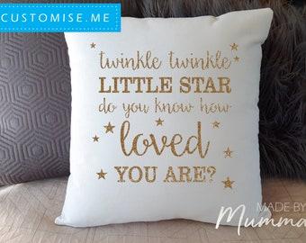 Twinkle Twinkle, Nursery Cushion, Custom Cushion