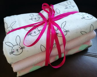 Pinks and Bunnies Baby Wraps