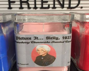 Golden Girls | Sophia Petrillo | Picture It Sicily 1922 | Strawberry Cheesecake Scented | Inspired Candle
