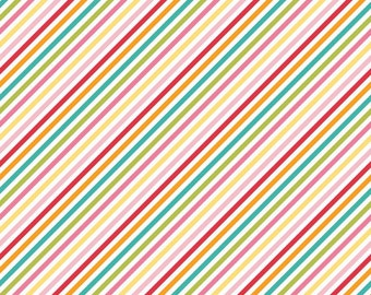 Fabric by the Yard -- Fancy Free Stripe in Multi by Lori Whitlock for Riley Blake Designs