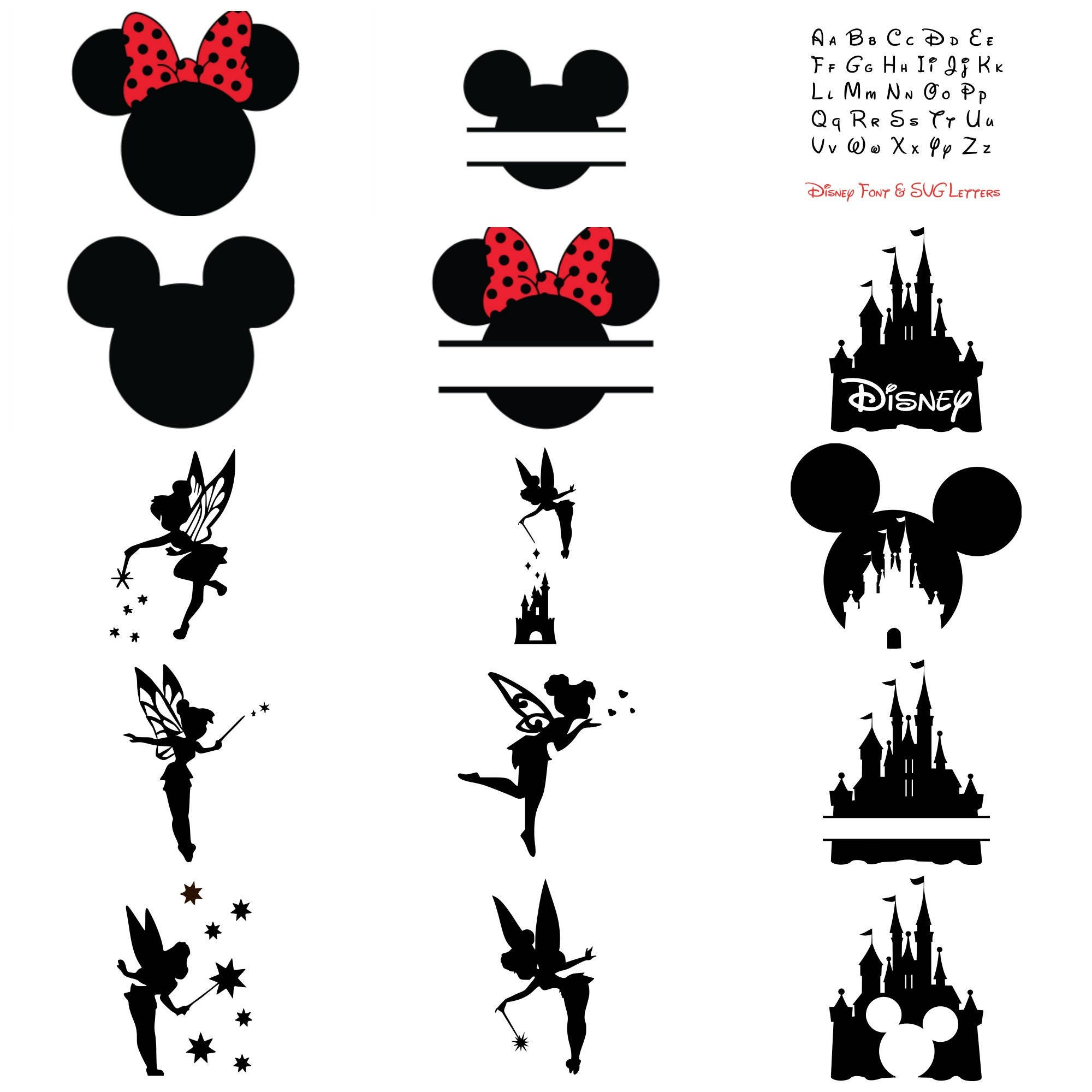 Disney Bundle Svg Cut Files Mickey Amp Minnie Mouse Ears