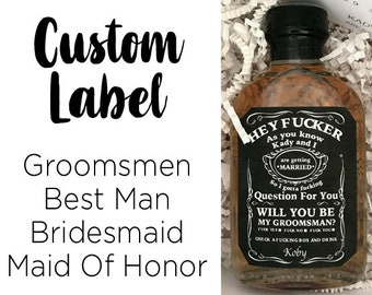 Personalized Custom Whiskey Bottle Label | Groomsmen, Best Man, Bridesmaid, Maid Of Honor, Bachelor Party, Wedding, Birthday, Whiskey Label