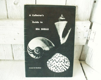 Vintage book Collectors Guide to Sea Shells field guide identification 1974- free shipping US