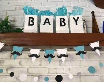 Mustache banner,mustache party,mustache party decor, little man, oh boy,baby shower,mustache birthday,mustache baby shower,mustache,baby