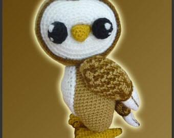 Amigurumi Pattern Crochet Barn Owl DIY Digital Download
