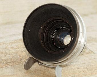 "Lenkinap (OKS) RO61-5. (2,5/28) Red ""P"" Soviet lens LOMO KMZ. Mount Konvas.Rare"