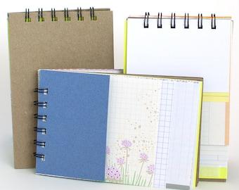 Repurposed Paper Notebook - Kraft Cover - Meg Marano - Keep It In Your Room -Mmmk Creative
