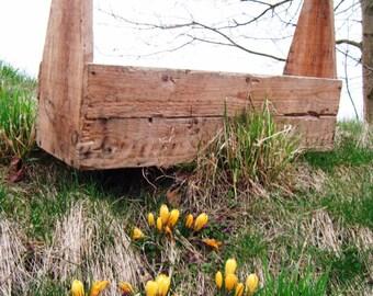 Vintage Tool box, Planzschale, Floristendeko, garden help, decoration-Men at work... Big Toolbox