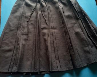 Dark Gray Pleated/Plissée Skirt - Size 0/XXS