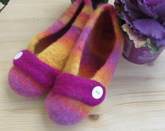 Knitted felted Ballerinas in the gr. 37/38 SALE!!!