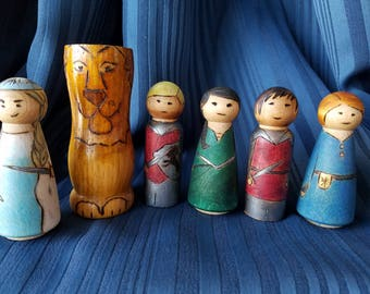 Narnia inspired peg doll set