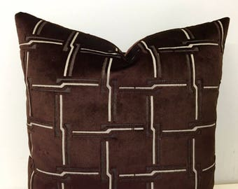 Luxury Brown Velvet Pillow Cover, Brown Pillows, Velvet Pillow, Decorative Throw Pillow, Designer Velvet Cushion, Brown Velvet Pillow Covers