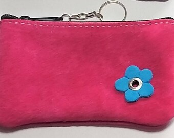 Beautiful suede coin purse