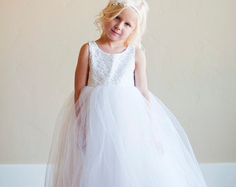 Ivory Lace flower Girl Dress or First Communion Dress