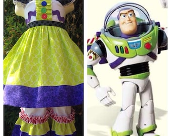 Custom Boutique Buzz Lightyear Inspired Tunic and Ruffle Pants