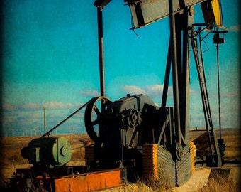 Oil Well Rig Western Rustic Fine Art Photography Texas Fine Art Prints