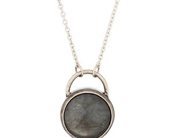 Labradorite Sterling Silver Alvina Necklace