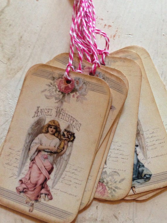 Gift tags angel tags angel whispers tags religious tags easter tags gift tags angel tags angel whispers tags religious tags easter tags easter basket tags set of 9 from papermillroad on etsy studio negle Images
