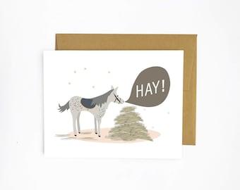 Hay! - Horse Greeting Card