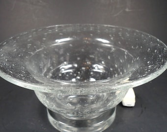 Bubble Glass Pedestal bowl