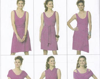 FREE US SHIP Butterick 5606 Easy Drape Ties 6 looks Dress Sewing Pattern Sz 4/14 16/26 Bust 29 30 32 34 36 38 40 42 44 46 48 Out of Print